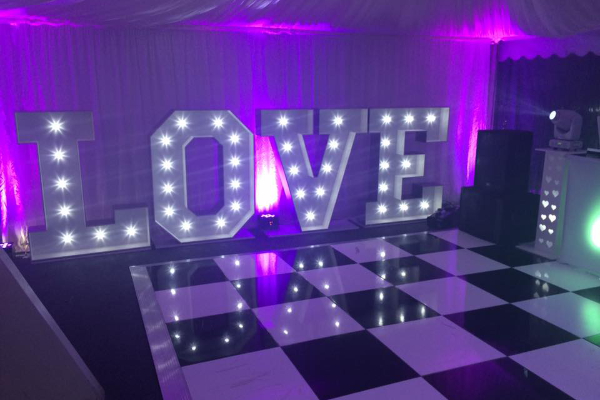 Mood Lighting &<br>Giant LOVE Letters